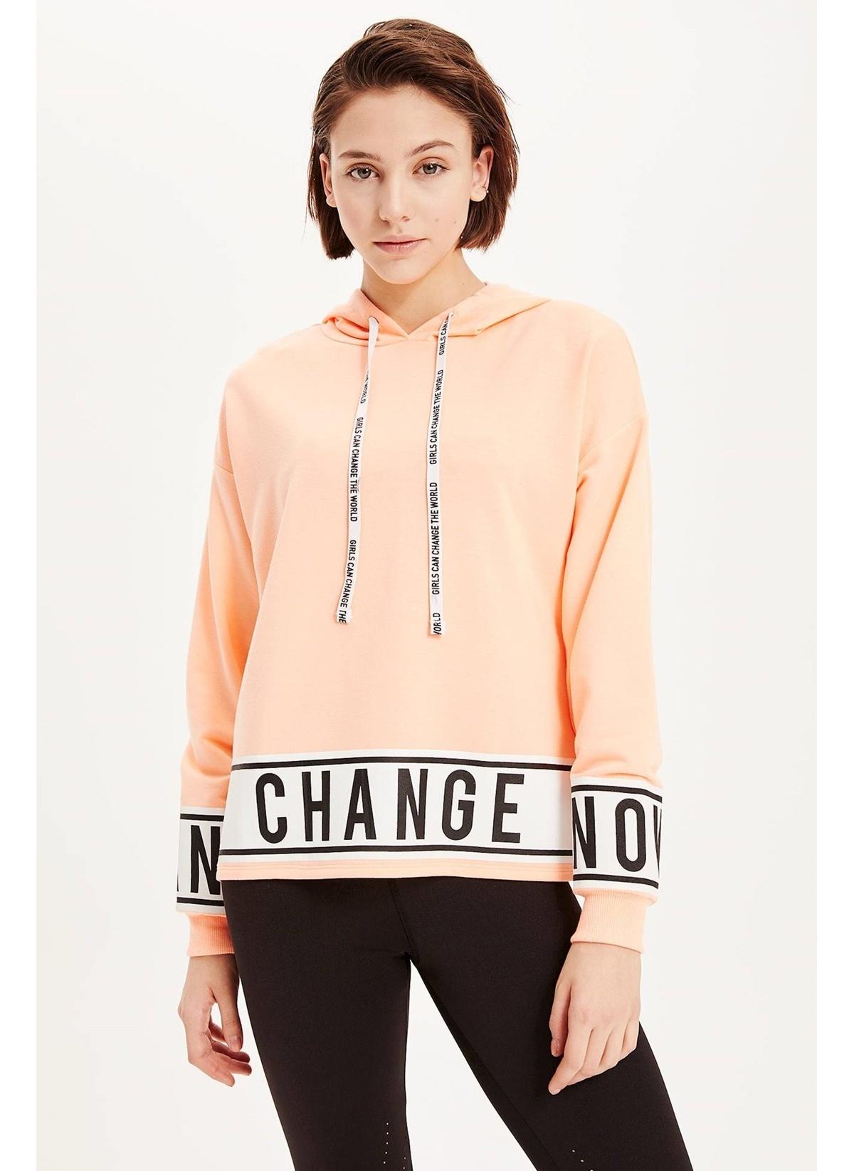 Defacto Kapşonlu Slogan Baskılı Sweatshirt K4847az19spog384sweatshirt – 29.99 TL
